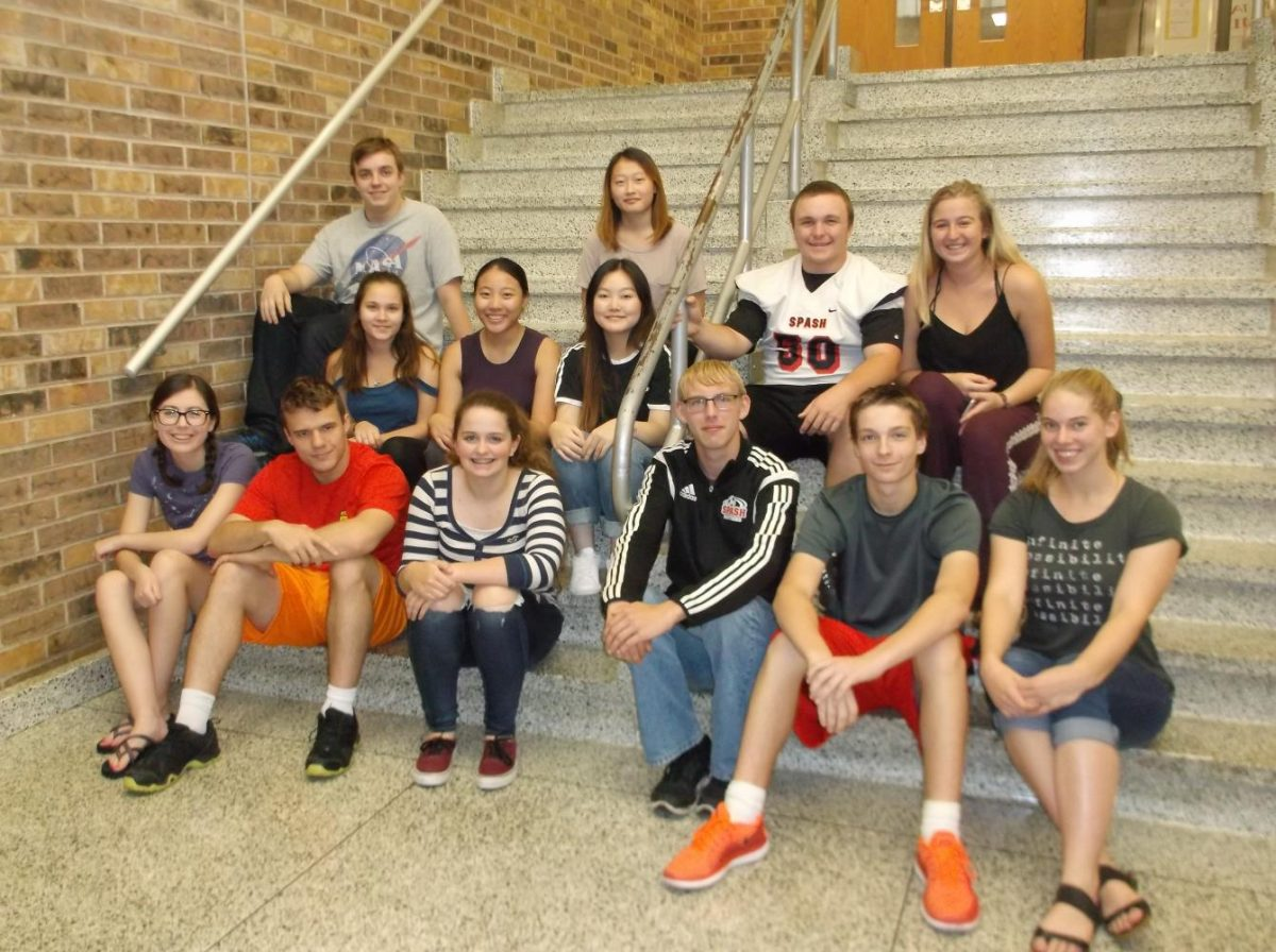 Members of this semester's staff are (front row from left) Emily Seppelt, Editor Nick Wachowiak, Kaitlyn Herman, Tarren Lewis, Dalten Mateer, Sydney Clark (middle row from left) Destiny Matuszak, Cia Siab Vang (back row from left) Noah Woyak, Ashley Vang, Austin Stankowski and Emma Schulfer. Jayna Salvinski is also a member of the staff